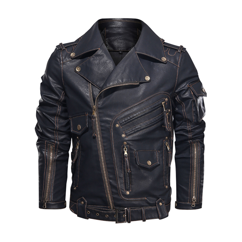 mens pu leather jacket07