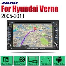 ZaiXi Auto DVD Player GPS Navigation For Hyundai Verna 2005~2011 Car Android Multimedia System Screen Radio Stereo