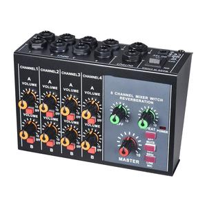 Portable Digital 8-Channel Stereo Sound Mixing Console Reverb Effect Audio Mixer With 60 hz Frequency Cut Reverb Function