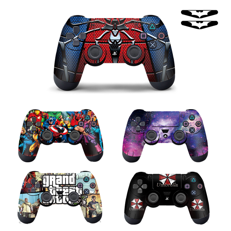 Cool Fasshion 1pcs Controller Skin for PS4 Controller Decal Stickers for Playstation4 Controller Free Shipping(China)