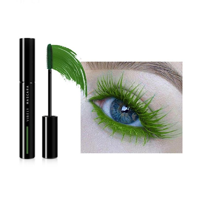Grass Green Waterproof Eye Mascara  Extend Curling Eyelashes Liquid Eyeliner Stretching Makeup Cosmetics