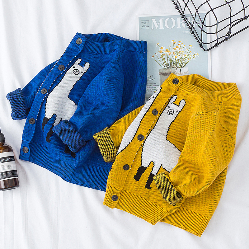 Autumn Family Matching Clothes Women's Baby Boy Girl Cartoon Animal Pattern Long Sleeve Sweaters Mother Son Daughter Outfits 4