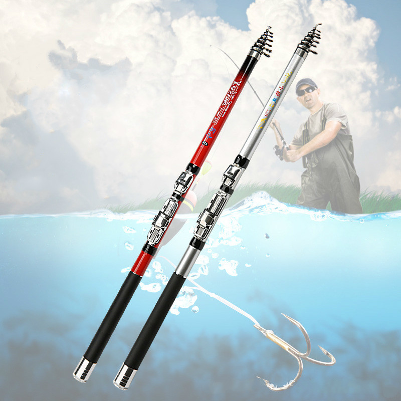 1.6m Telescopic Fishing Rod and Spinning Reel Set Coarse Carp Sea Fishing