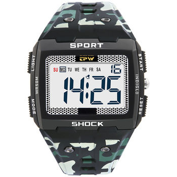 Big Numbers Men Sport Watch Digital Multifunction Alarm Chrono Swimming 3ATM Waterproof Back Light Square Screen