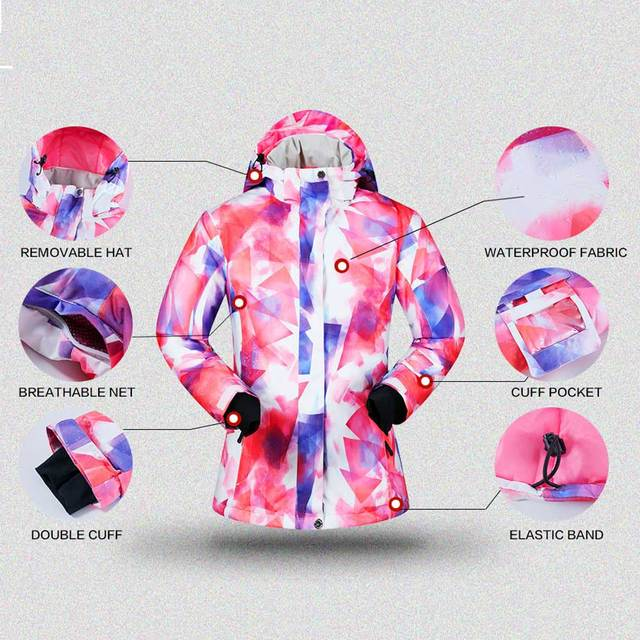 -30 degree Ski Suit Women Winter Female Jackets and Pants Warm Waterproof Women's Jacket Outdoor Snowboard Cycling Camping Brand 8