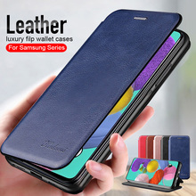 leather flip magnetic case For samsung a51 a71 a12 a02s a32 a02 a31 a4