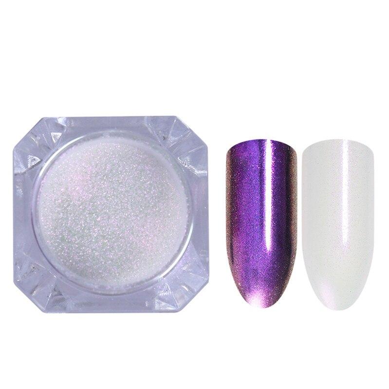 1 коробка жемчужный блеск для ногтей порошок зеркальный матовый эффект блеск Лазерная пыль Маникюр мерцающий пигмент украшение для ногтей - Цвет: 6