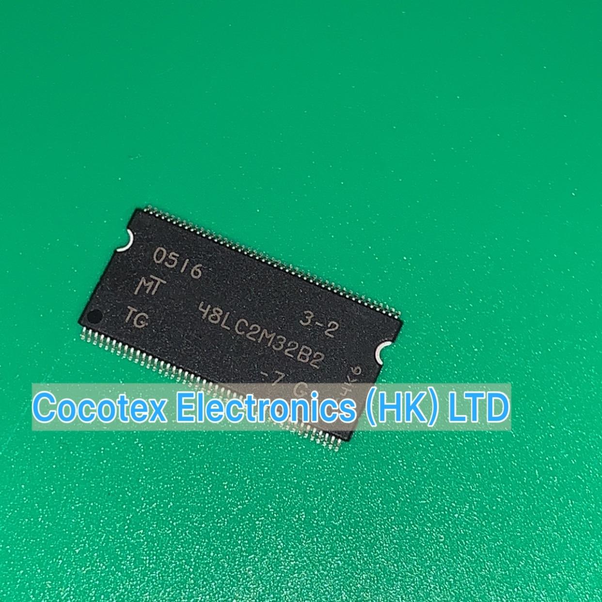 2pcs MT48LC16M16A2P-6A:G DRAM Chip SDRAM 256Mbit 16Mx16 3.3V TSOP-54
