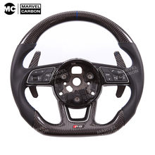 Custom Steering Wheel RS4 RS6 RS5 S4 S5 S6 Carbon Fiber for Audi S1、S3、S4、S5、S6、S7、S8、TTS、SQ5、SQ7 RS3、RS4、RS5、RS6、RS7、TTRS、RS