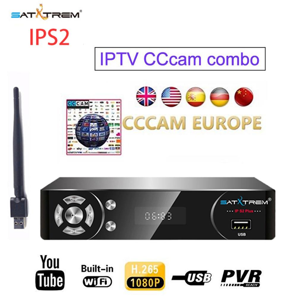 Satxtrem IP S2 NOVA Satellite TV Receiver Receptor IPTV Decoder DVB S2 With MT7601 USB Wifi