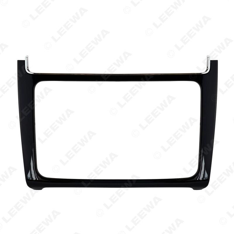 LEEWA глянцевая черная 2DIN Автомобильная установка Радио Стерео DVD рамка фасции приборная панель монтажные комплекты для Volkswagen Polo(Typ6C;