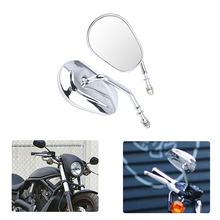 Motorcycle Rearview Mirrors For Harley Custom Road King Fatboy Softail Dyna Bobber Street Glide For XL Sportster 883 1200 XL883 motorcycle 8mm rear view mirrors for harley sportster xl 1200 883 low rider sport glide