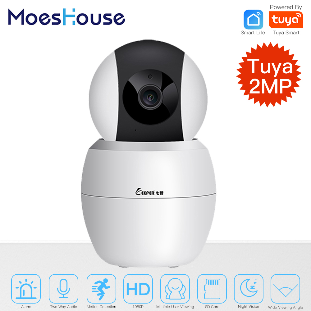 Tuya Smart Camera WiFi Security Rotating Camera HD 1080P Network Two-way Audio IP Camera