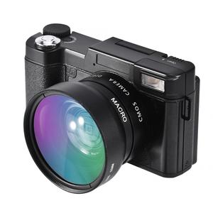 Image 5 - 24MP 풀 HD 1080P 4 배 디지털 줌 카메라 180 학위 회전 스크린 카메라 비디오 Vlog 카메라 캠코더