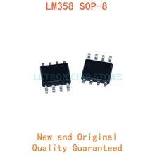 10PCS LM358DR SOP8 LM358 SOP-8 358 SOP LM358DT SOIC8 LM358DR2G SOIC-8 LM358D SMD novo e original Chipset IC