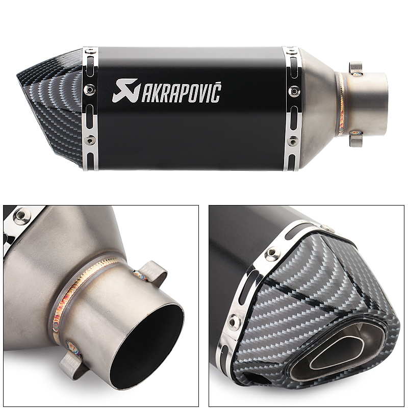 #E51 Akrapovic motorcycle exhaust FOR yamaha r6 <font><b>2008</b></font> suzuki sv KAWASAKI zxr 400 DUCATI 848 <font><b>BMW</b></font> <font><b>r1200gs</b></font> crash bars image
