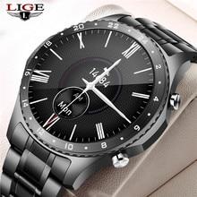 LIGE 2021 New Steel Band Digital Watch Men Sport Watches Electronic LED Male Wrist Watch For Men Clock Waterproof Bluetooth Hour
