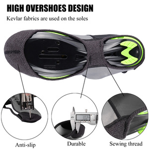 Image 2 - ROCKBROS Road Bike Shoe Covers Cycling Waterproof and Windproof Overshoes MTB Winter Bicycle Reflective Fabric Toe Cover