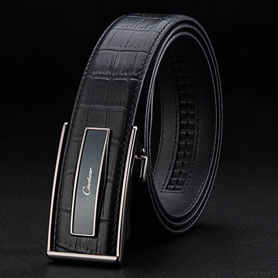 Luxury Design Belts Genuine Leather Metal GG Buckle Classic Men Belt Black Brown