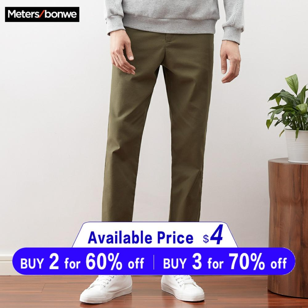 Metersbonwe Men Casual Pants New Spring Autumn Trousers Straight Chinos Fashion Straight Male Brand Trousers High Quality