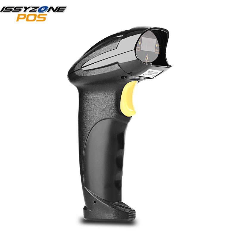 ISSYZONEPOS Barcode Scanner Code-Reader Stand Laser Handheld CCD USB 1D with Wired Automatic-Bar