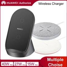 Ban Đầu Không Dây Huawei Sạc Siêu Không Dây 15W 27W 40W Cho Huawei Mate 40 30 Pro iPhone 12 IPhone11 Samsung S12