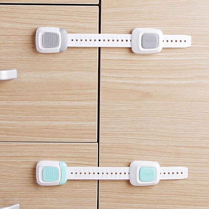 Door Cabinet Cupboard Strap Safety Locks High Quality Baby Kids Safety Locks Drawer Plastic Children Protection Care Locks