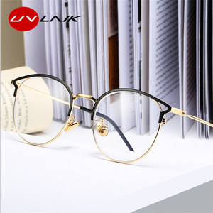 UVLAIK Anti Blue Light Glasses Frame Cat Eye Eyeglasses Frames Women Computer Protection Eyewear Optical Spectacles Myopia Frame