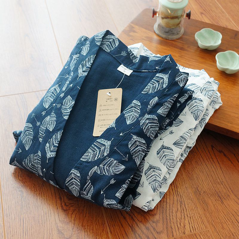 Spring And Autumn Men'S Cotton Kimono Trousers Plus Size Home Service Suit Pajamas 100% Cotton Hanfu Japanese Work Clothes