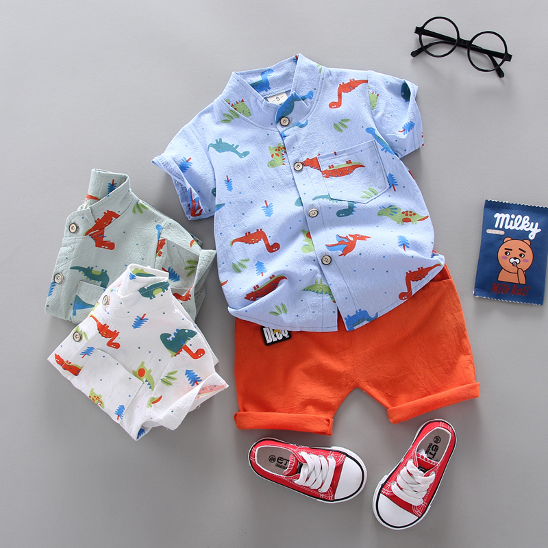 summer Children's suit  Clothes Sets Boys and girls Short sleeve shirt and Pants 2 pieces Clothing sets children's clothing Baby 4