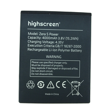NEW Original 4000mAh zera s power  battery for highscreen High Quality Battery+Tracking Number