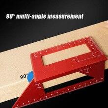 Heißer T-typ Glasritzrades Guide Herrscher Multifunktionale 45 90 Grad Winkel Werkzeuge für Holzbearbeitung Mess PLD