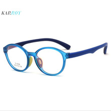 Retro Round Eyeglasses Children TR90 Silicone Ultra-light Optical Frame New Kids Myopia
