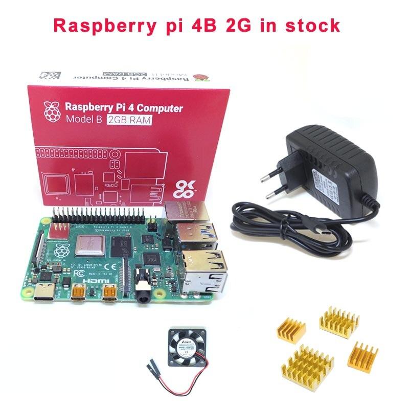 Raspberry Pi 4B Development Board Bluetooth 5.0 Dual HDMI Dual Frequency 5Gwifi/4K+5V 3A Power+Heatsink+fan For Raspberry Pi 4B