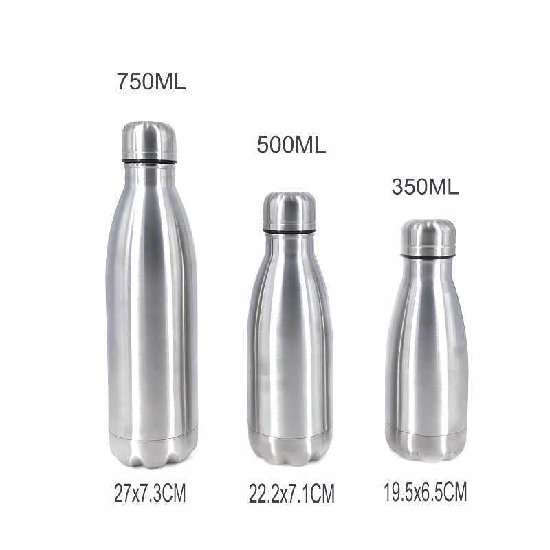 נירוסטה קולה תנועה ספורט מים בקבוק כוס מים מחוספס Monolayer לא חום שימור מתכת צבע קולה לשתות בקבוק Drinkware