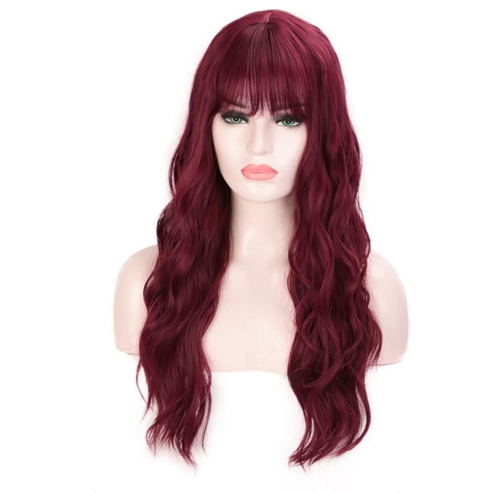 I's a wig Synthetic Wigs for Black/White Women Water Wave Long Mix Grey Hair African American Women Wigs with Bangs