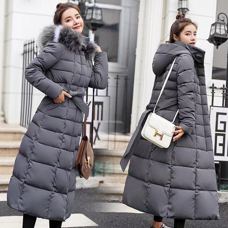 2019 Casual Winter Jacket Women Long   Parka   Waterproof Fur Hooded Slim Warm Thick Winter Coat Women Plus Size casaco feminino