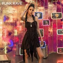 PUNK RAVE fille gothique sombre sorcière licou robes mince Cool noir Sexy femmes robe été