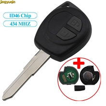 Jingyuqin Remote Car Key 434MHz ID46 Chip For SUZUKI SWIFT SX4 ALTO VITARA IGNIS JIMNY Splash Entry Fob 2 Buttons