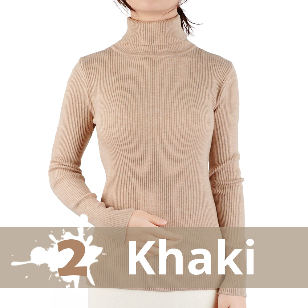 2021 Autumn Winter Thick Sweater Women Knitted Ribbed Pullover Sweater Long Sleeve Turtleneck Slim Jumper Soft Warm Pull Femme 16