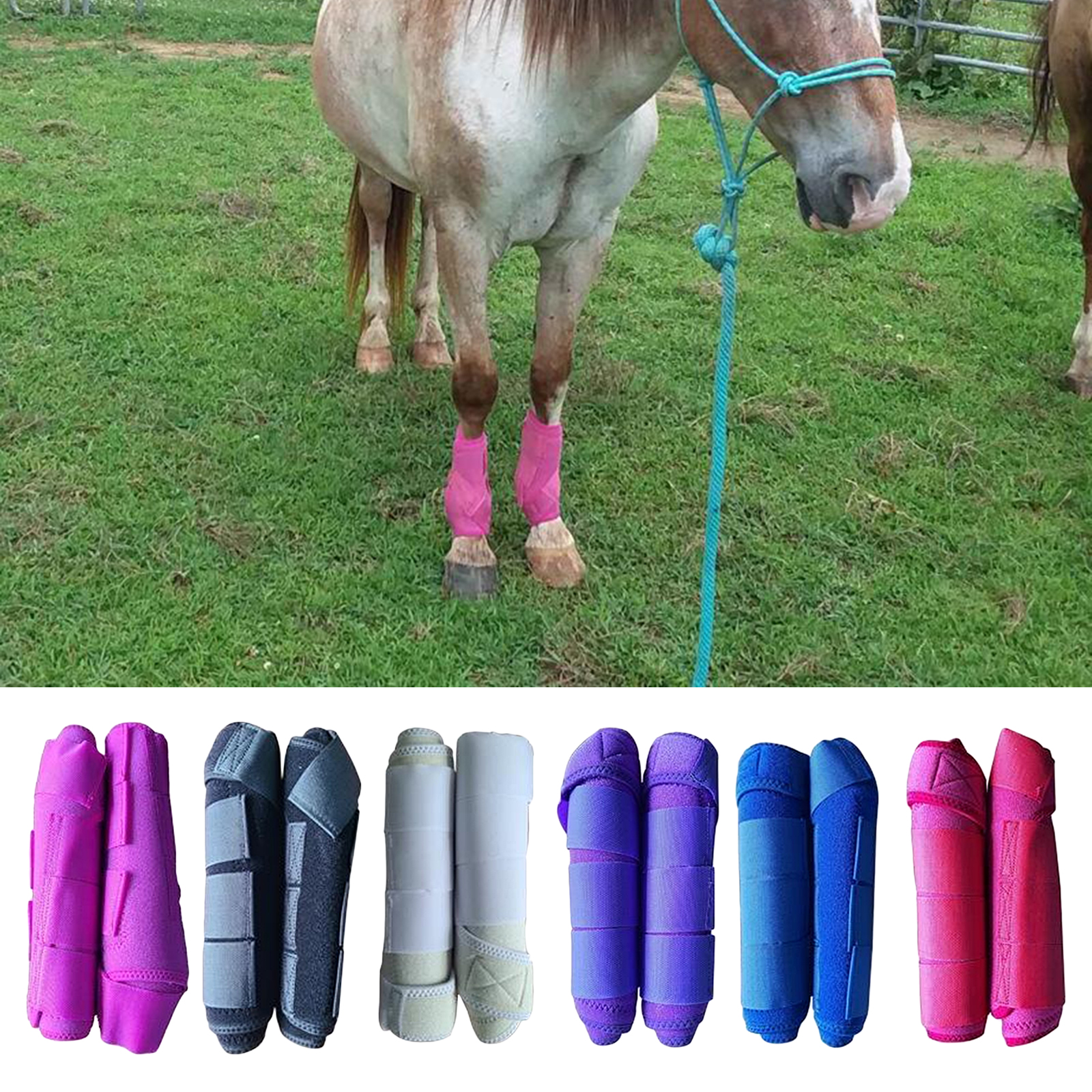 Equine Sport Horse Jumping Tendon Boot Leg Protection Brushing Supports Boot Equestrain Sports Medicine Boots Horse Leg Wraps