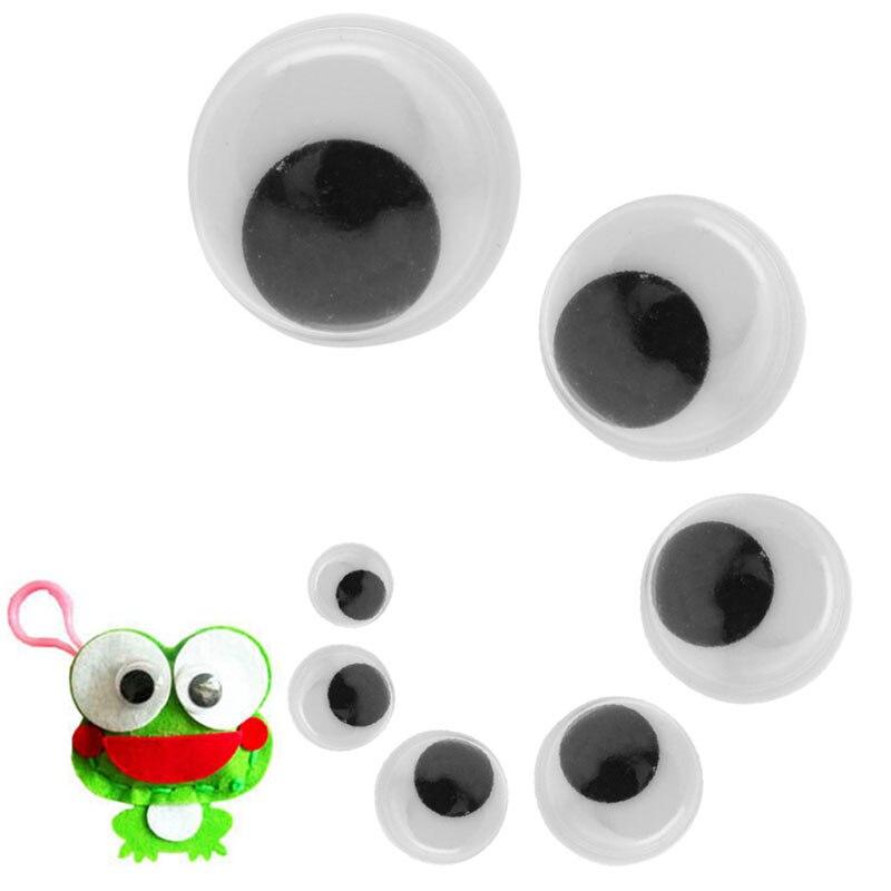 Дети Like Wiggly Wobbly Googly Eyes Самоклеющиеся Скрапбукинг Поделки 100PCS