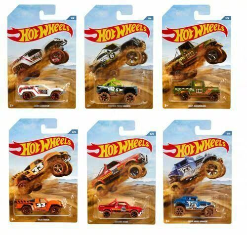 Hot Wheels Simulation Car Series Full set of Collection Desert Bigfoot Car Rally Car Jeep Crusher Truck Toy of Children GDG44 1