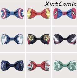 Мстители: эндигра супер герой галстук бабочка свадьба галстук-бабочка шафера косплей реквизит Хэллоуин Рождество Взрослый Дети подарок
