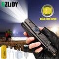 Супер яркий светодиодный светильник XHP90 с функцией USB входа и выхода, 5 режимов, тактический фонарь с бликами, водонепроницаемый светильник с...