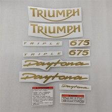 Darmowa wysyłka motocykl Fairing naklejka dla Triumph 675 Protector naklejka wyścigowa złoty pełny zestaw ozdobny ochraniacz