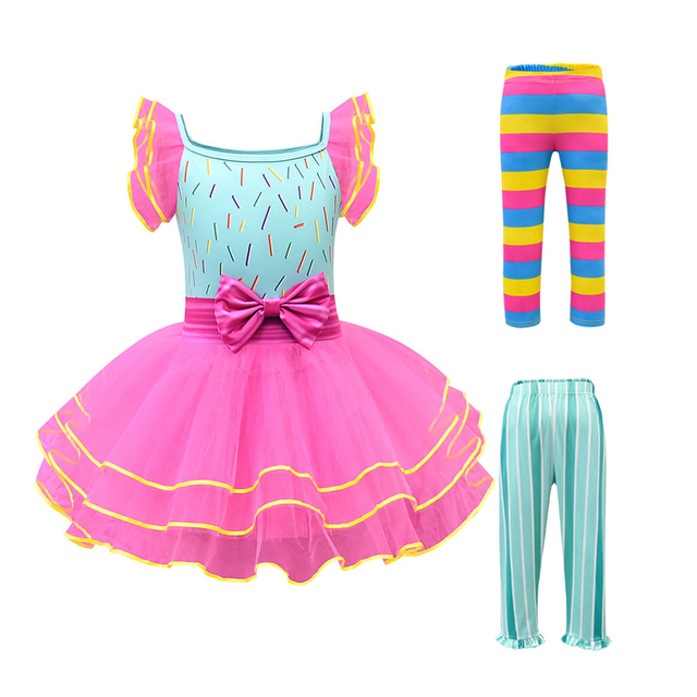 Baby Girl Nancy Dress Up Dresses Kids Fancy Nancy Ball Gown Flying Sleeve Tutu Frock Pants Sets Small Child Summer Casual Outfit