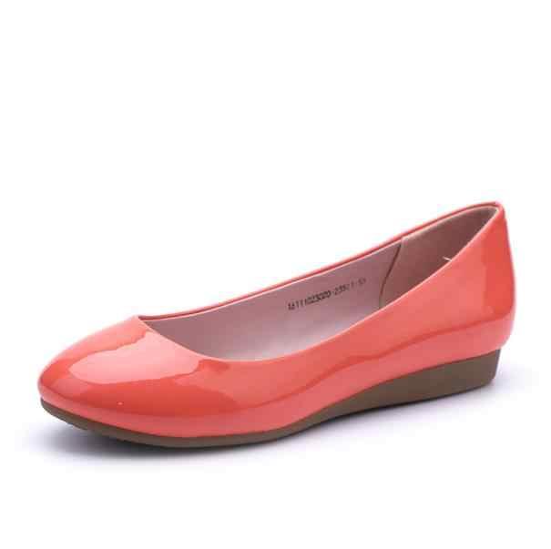 2018 nieuwe dames mode lente zoete ronde kop lage hak ondiepe mond comfort schoenen
