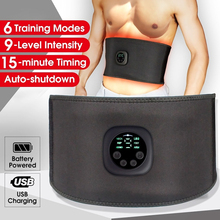 Intelligent USB Rechargeable EMS Fitness Trainer Belt LED Display Electrical Muscle Stimulator Abdominal Muscle Training Device