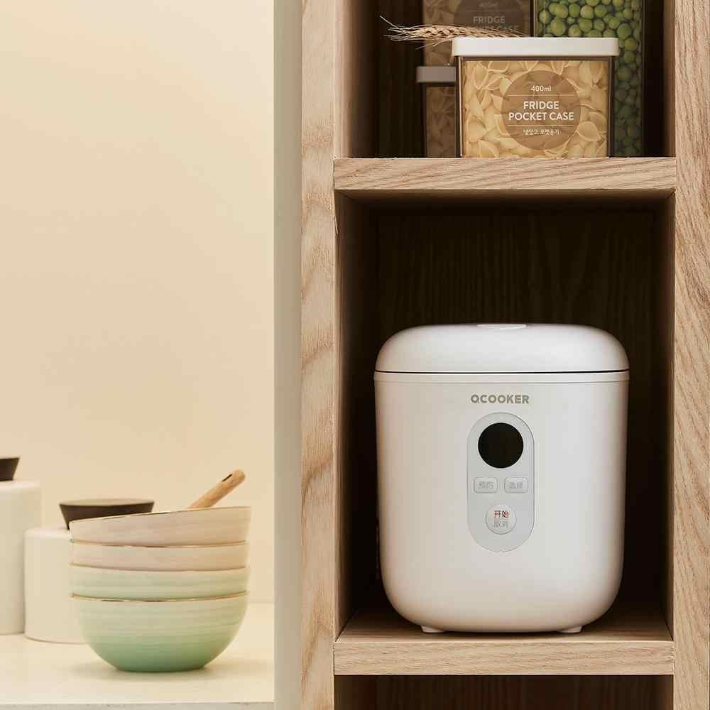 Kbxstart 1.2L Rice Cooker Listrik Mini Cooker Pintar Multicooker Non Stick Pan Mendukung Janji Waktu dengan LCD Display